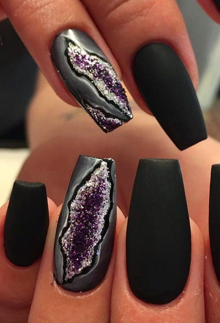 You'll Forget All About Galaxy Nails When You See Geode Nails