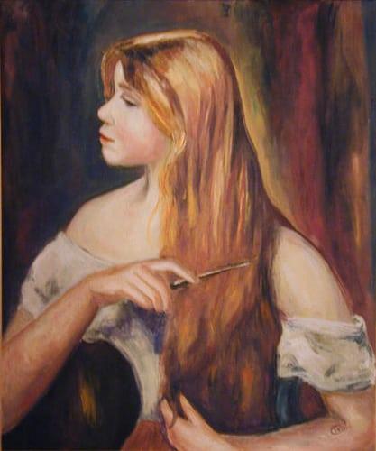 d'après Renoir huile 81/60  Posté par triolita  sur 2009-06-01 15:20:38      Tagged:  , Copies , Impressionnistes , Portrait   …