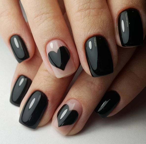 And don't forget… even though black nails make a certain kind of statement, you can always find a way to express your love.