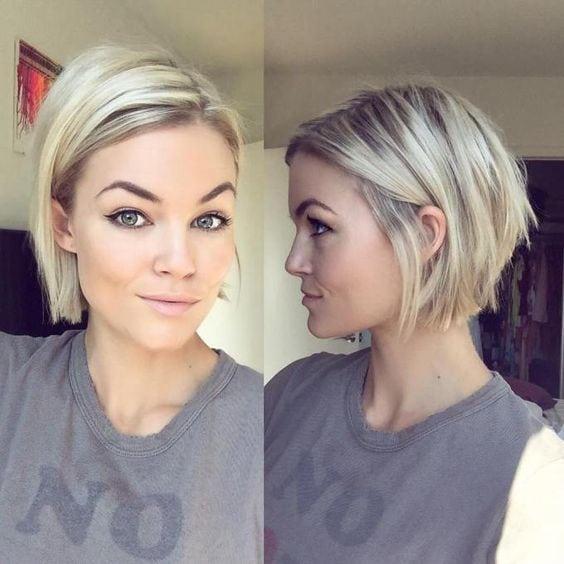 Blonde Chin-Length Bob Source by miertl   …