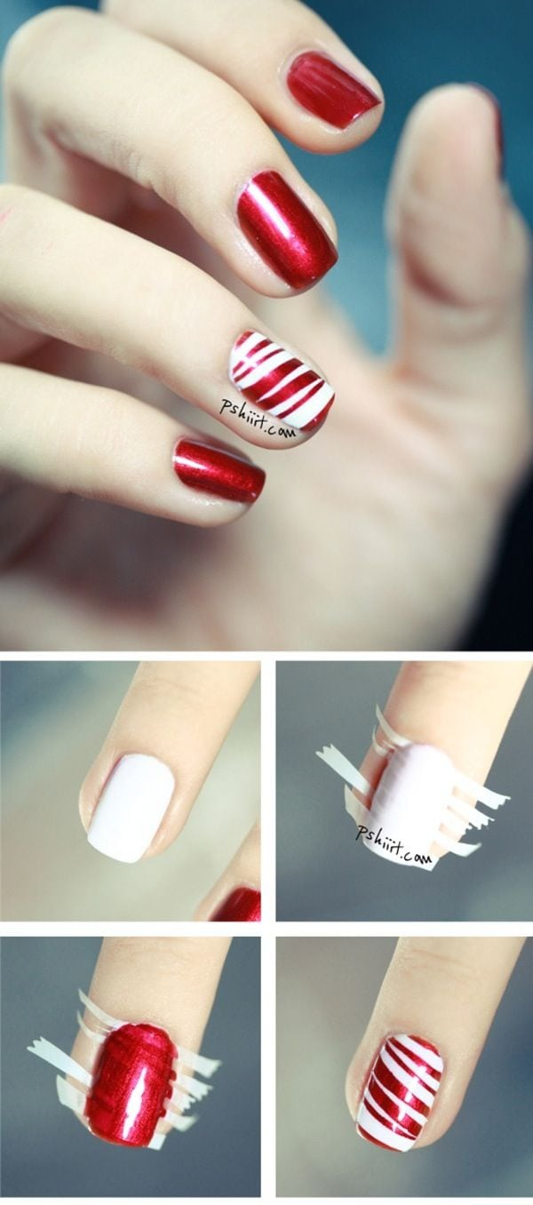 [ad_1]  Do a nice color on your nails. Then cut tape in thin stripes. Place it on the nail and paint another color over it. Wait until the nail polish is dry and remove the tape from it. Source by Lamfje [ad_2]  …
