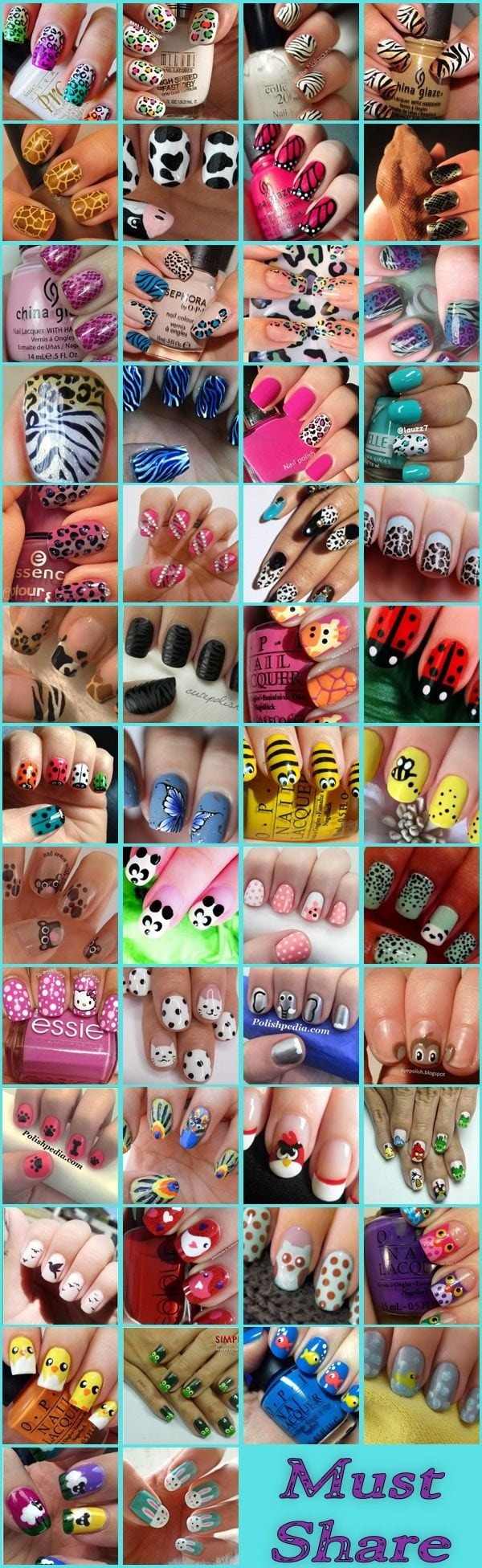Animal Themed Nail Arts Collection: Here we are sharing 50 such amazing nail arts which are inspired by animals. Source by esthervanstrien   …