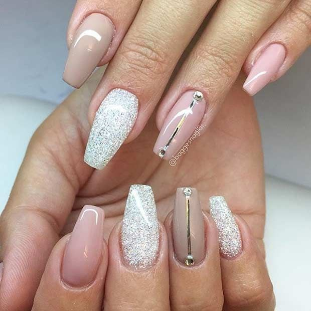 Pink and Nude Coffin Nails Source by margarietha   …