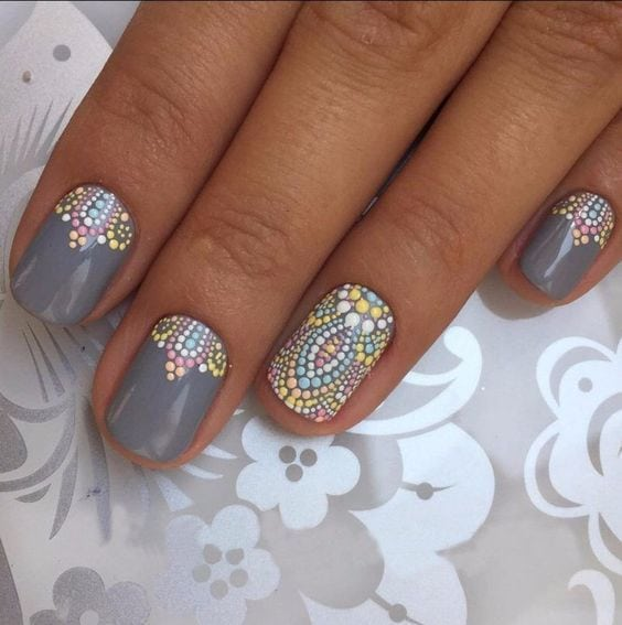 26 Mystical Mandala Nail Art Designs Source by loesprijs   …
