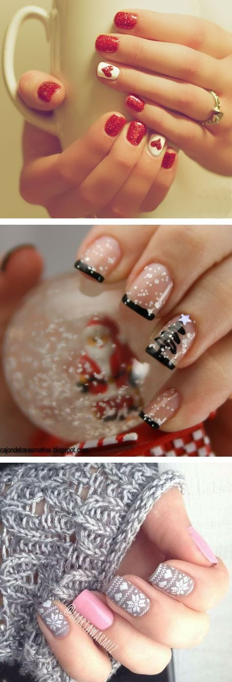 36 Sparkling Nail Designs for Christmas Party Source by tdenijs65   …