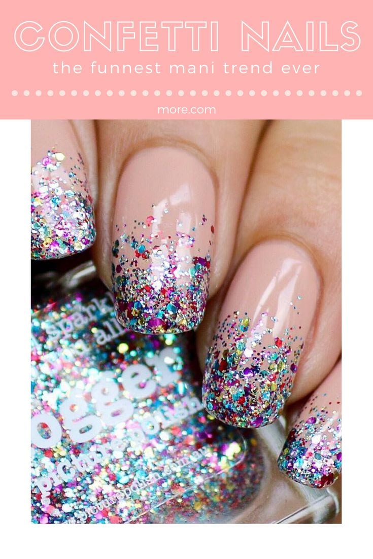 Confetti nails can be as simple or complex as you want  are super versatile, so you can match them with any and every look in your closet. Source by avanmelsen21   …