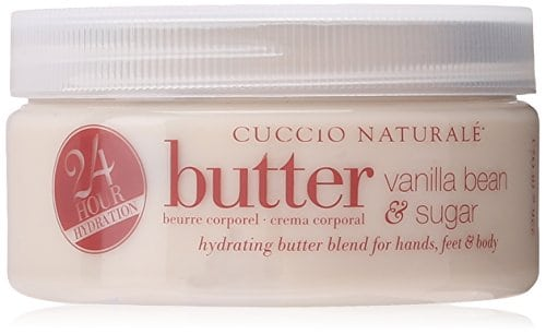 Acheter maintenant     $6.41 Cuccio natural vanilla bean and sugar scrub is a delicate blend of exfoliating and softening ingredients with antioxidant benefits. Soften and hydrates dry calluses. Relieves stress and elevates mood.Lasts five times longer than ordinary…