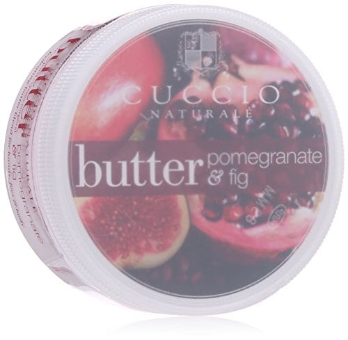 Acheter maintenant     $8.50 Cuccio natural butter blend hydrating treatment pomegranate and fig for hand and feet and body leaves skin extremely soft with a dewy finish. Lasts five times longer than ordinary lotion. Creamy blend for entire…