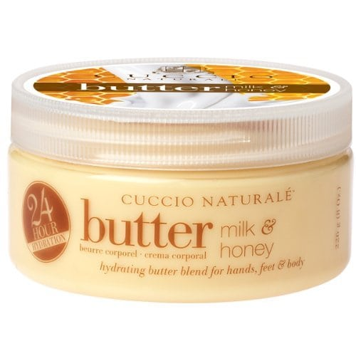Acheter maintenant     $0.56 Cuccio natural milk and honey butter blend hydrating treatment for hand and feet and body leaves skin extremely soft with a dewy finish. Lasts five times longer than ordinary lotion. Lasts five times longer…