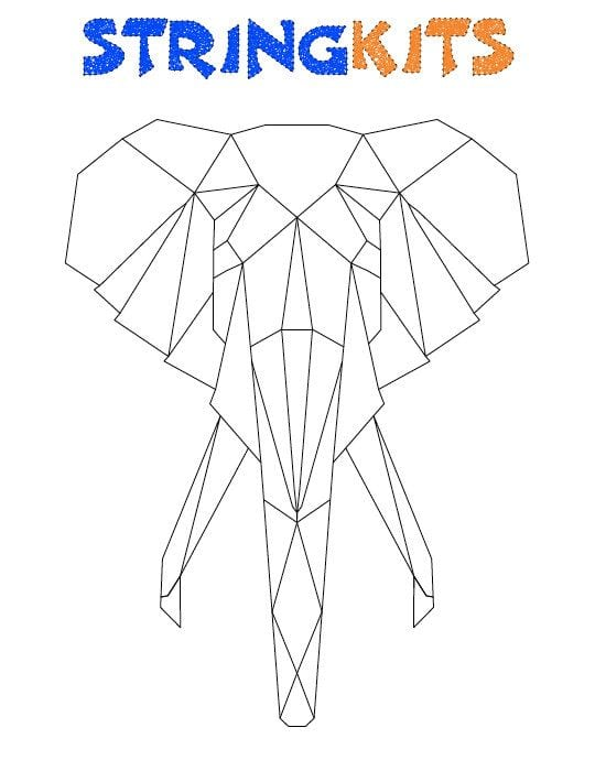 Elephant String Art Template van StringKits op Etsy