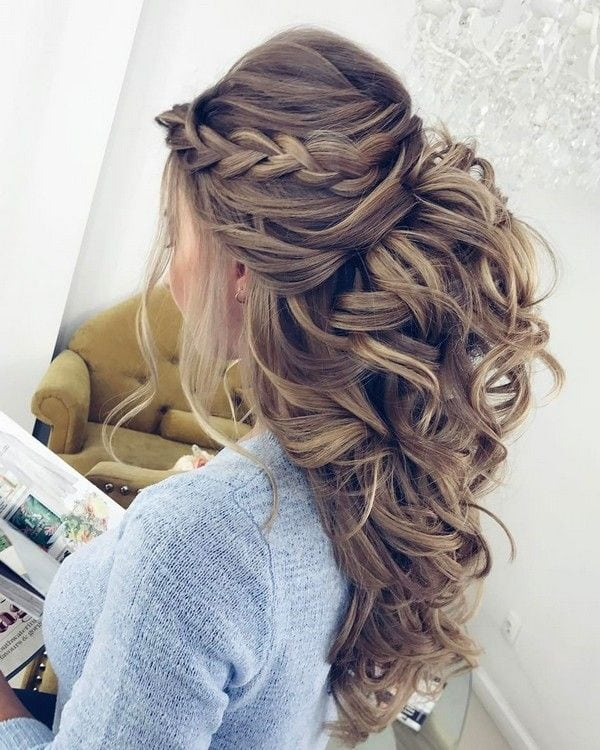 Elstile Long Wedding Hairstyle Inspiration ❤️ www.deerpearlflow…