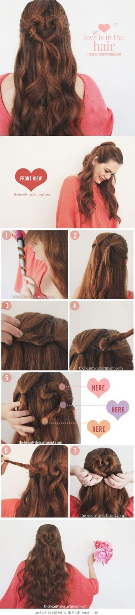 Love is in the Hair – Heart Shaped Bun Tutorial