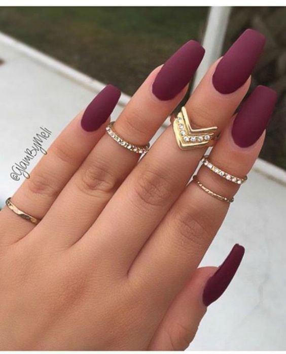 Matte nail inspo for Fall Source by sitienoerlia   …