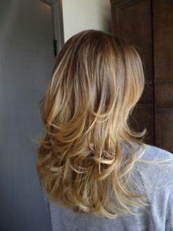 Stufenschnitt für lange Haare                                    …