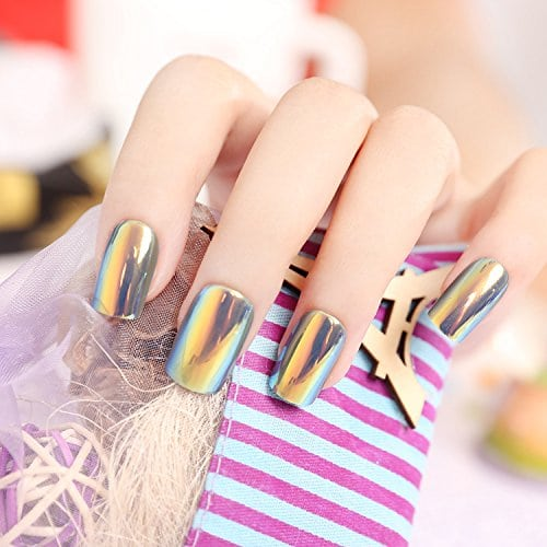 Acheter maintenant     $8.69 False Nail make easy: Easy to apply and remove.Safet on your natural nails: False nail trips without the dangerous chemical process.Bling nails enough: Unique design, apply for wedding, party…supper charming, elegent and bling.24 Pcs…