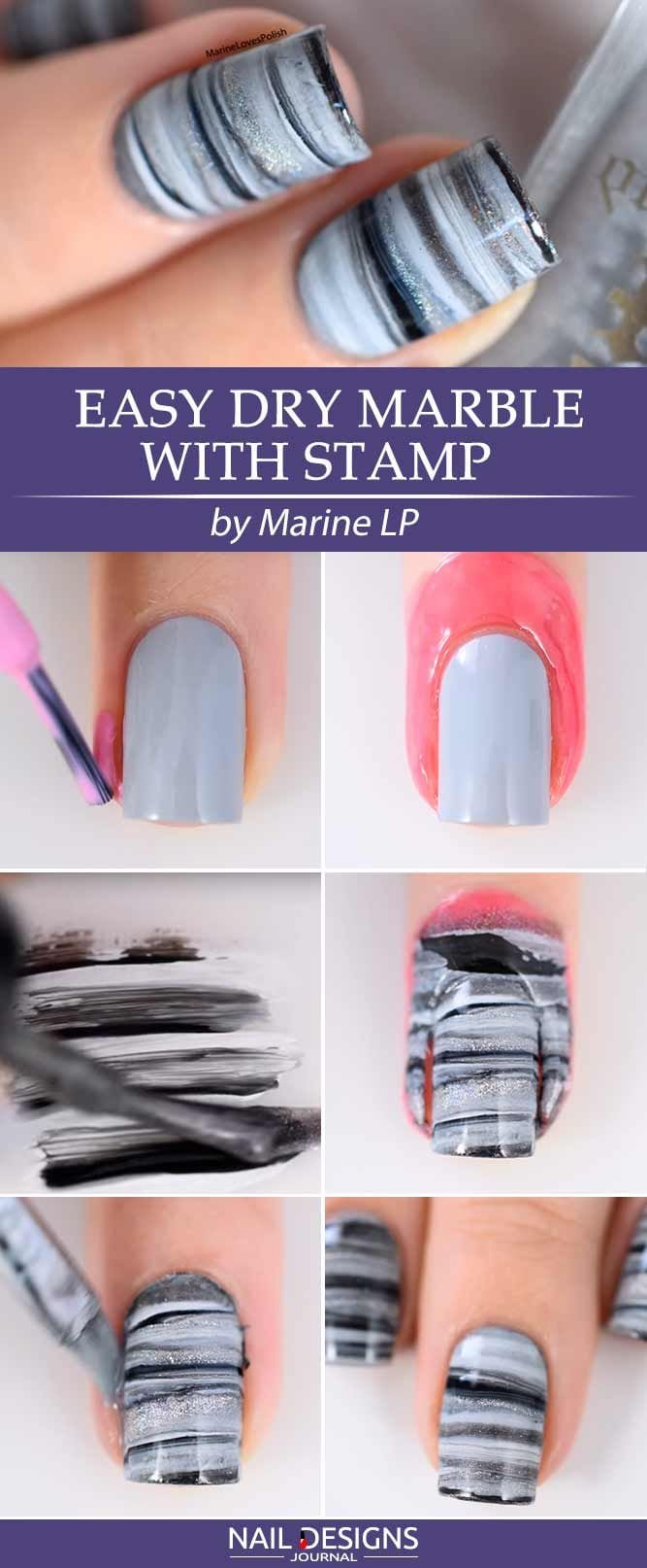 [ad_1]  5 Easy Tutorials: Different Nail Designs Step-by-Step ❤ Easy Dry Marble with Stamp Different nail designs are the inevitable part of life of every modern woman. Sometimes to be different, you do not need to go to the salon! Intrigued?…