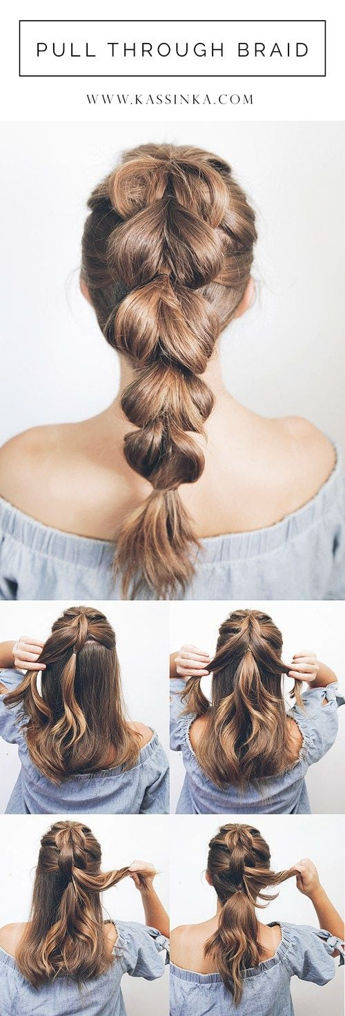 Introducing hair tutorials for shorter hair! Braids can help complete your look for any style. If you have medium thick hair then this style is perfect for you because your hair is the most easy to ma Source by johanenclaudia   …