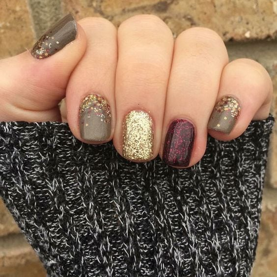 Jamberry. Mixed mani. Fall mani. Fashionably late gel. Bourdeux gel. Apple cider. Are you looking for autumn fall nail colors design for this autumn? See our collection full of cute autumn fall nail matte colors design ideas and get inspired!