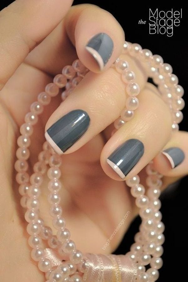 """Blogger, """"Model the Stage"""" really knows how to create her own version of an elegant and fun french manicure. Get your nail care and polish to recreate this look at a Duane Reade near you. Source by leontinedeheer   …"""