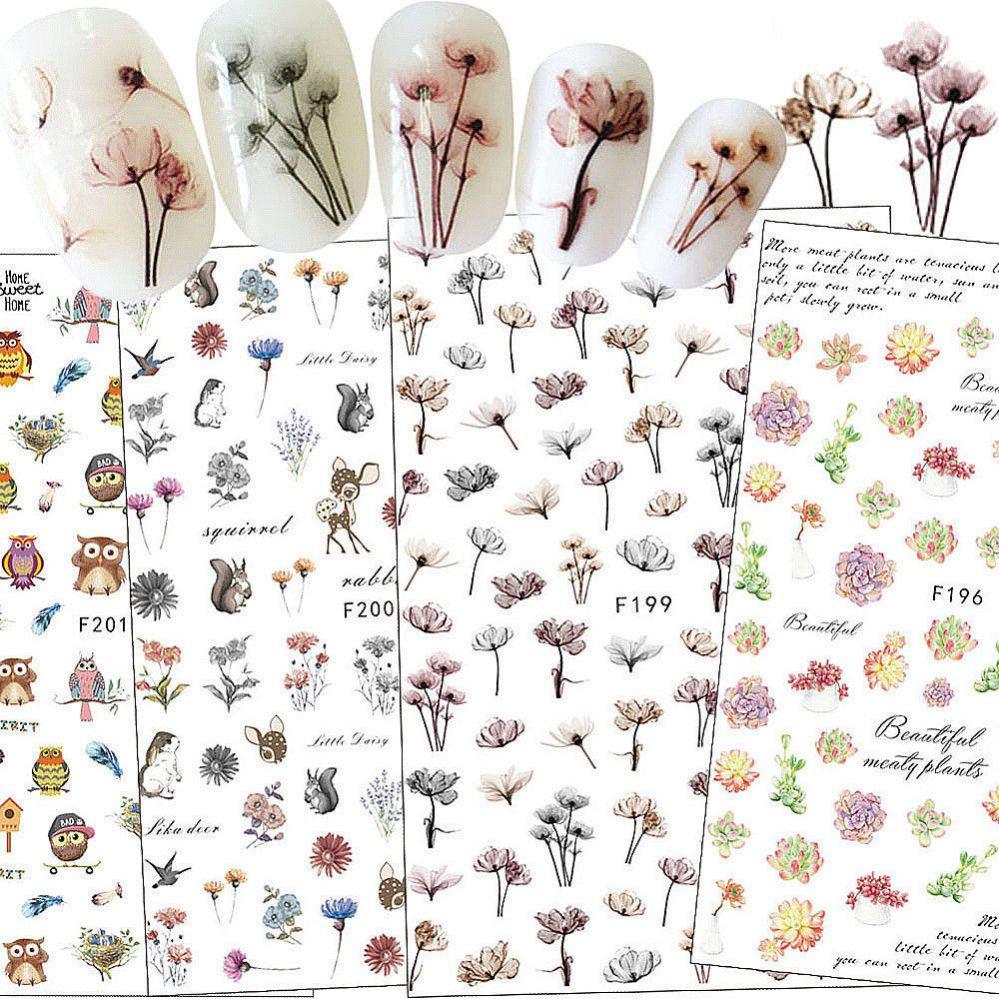Fleur Animal Design 3D Ongle Nail Art Autocollants Stickers DIY Manucure Décor  Price : 1.00  Ends on :   Voir sur eBay   …