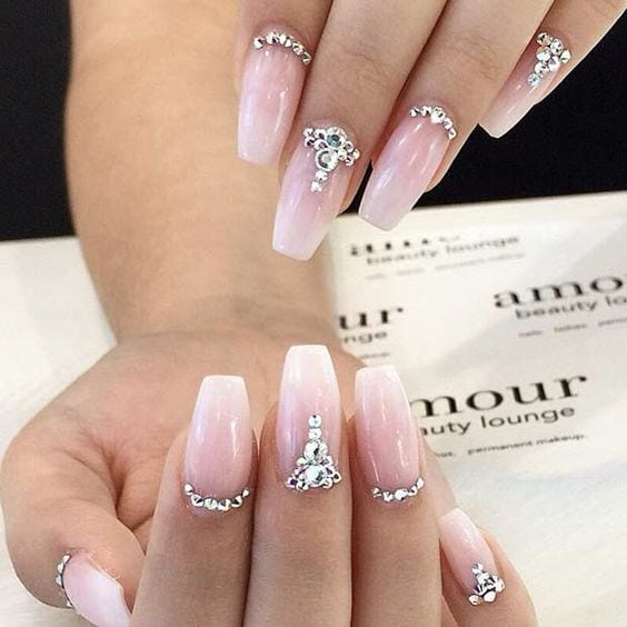 11. Ombre Wedding Nails Ombre hair is very big right now and ombre nails are just as in-trend. If you want elegant wedding nail art designs with a slightly more modern twist, these are the kind you should look at.…