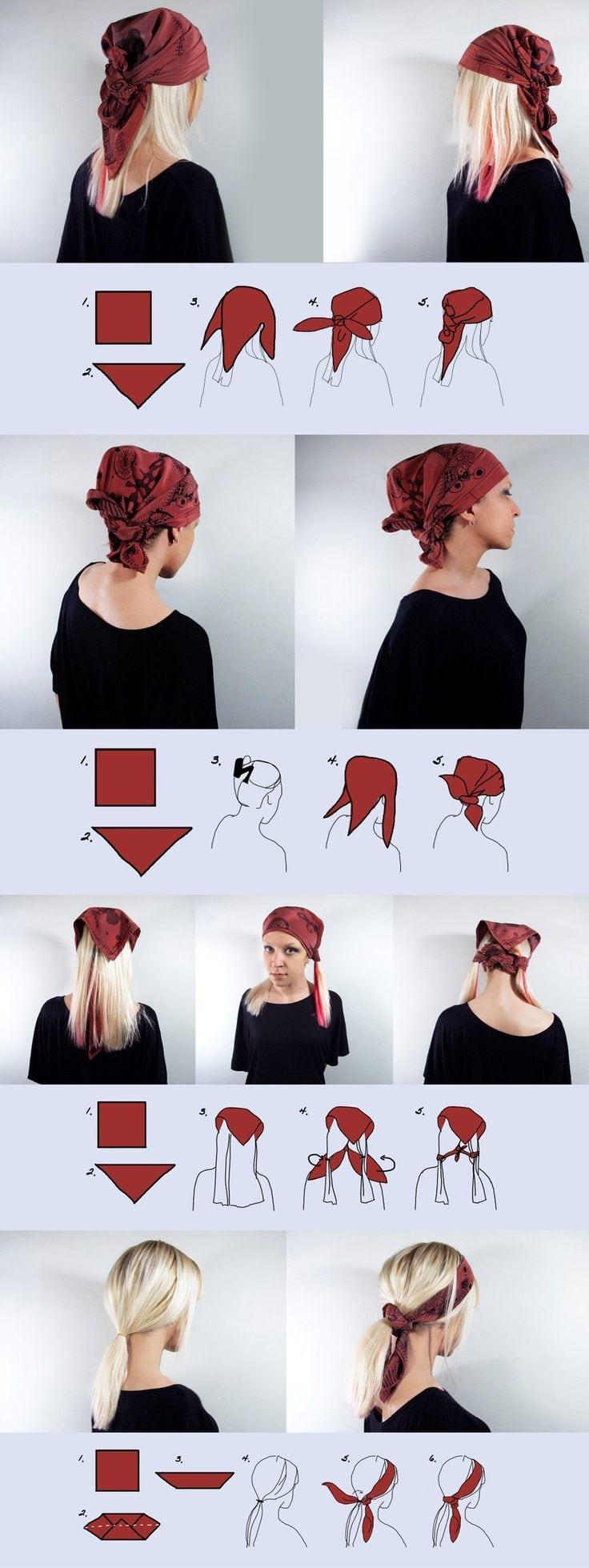 Conseils de mode et coiffure comment enrouler un foulard sur la tête avec style avec les cheveux longs ou les cheveux courts à l'africaine ou orientale. Source by homtiedomtie   …