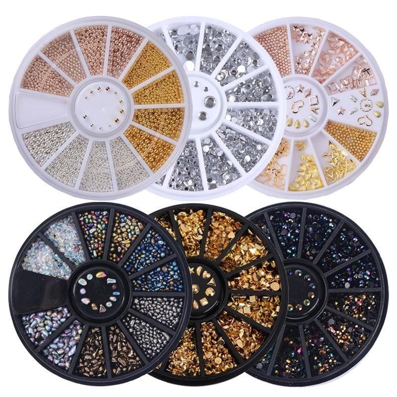 couleurs mélangés Pierre Ongle Strass Petit perles manucure 3d Art ongles  Price : 4.72  Ends on :   Voir sur eBay   …
