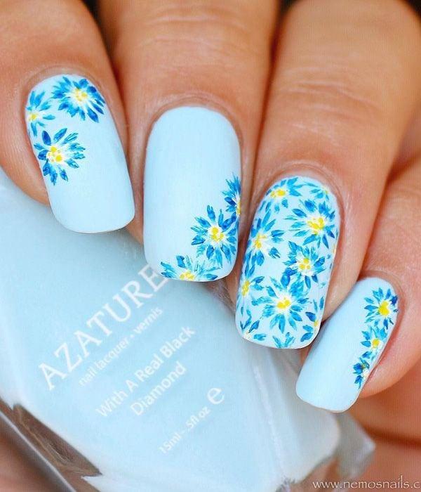 flower-nail-art – 50 Flower Nail Art Designs Source by FangirlPJHP   …