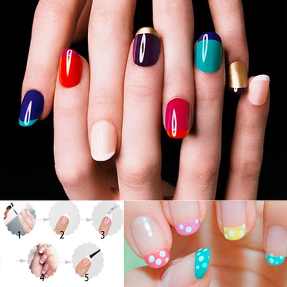 French Manucure Nail Art Ongles Tips Guide Pochoir Sticker Bandelette Décor FR  Price : 1.00  Ends on :   Voir sur eBay   …