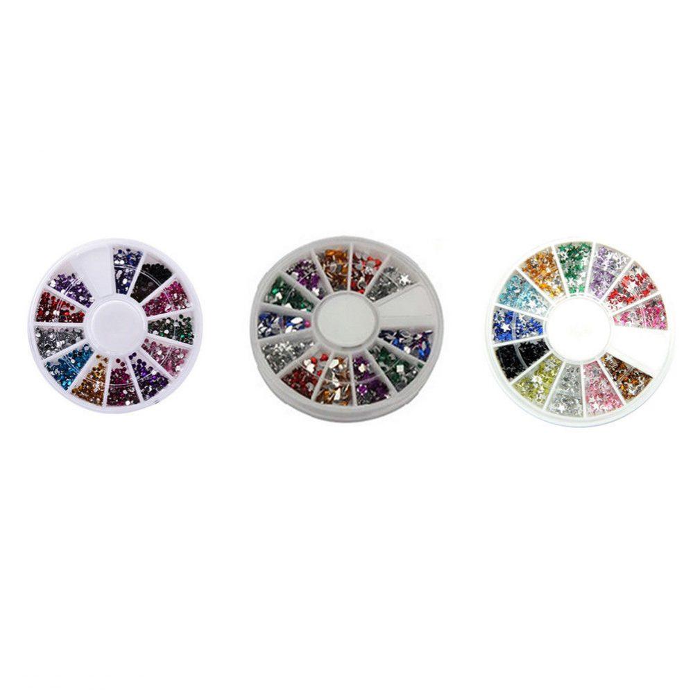 Haut 3D DIY Doigt Ongle Manucure Pédicure ROUE strass paillettes acrylique  Price : 1.17  Ends on :   Voir sur eBay   …