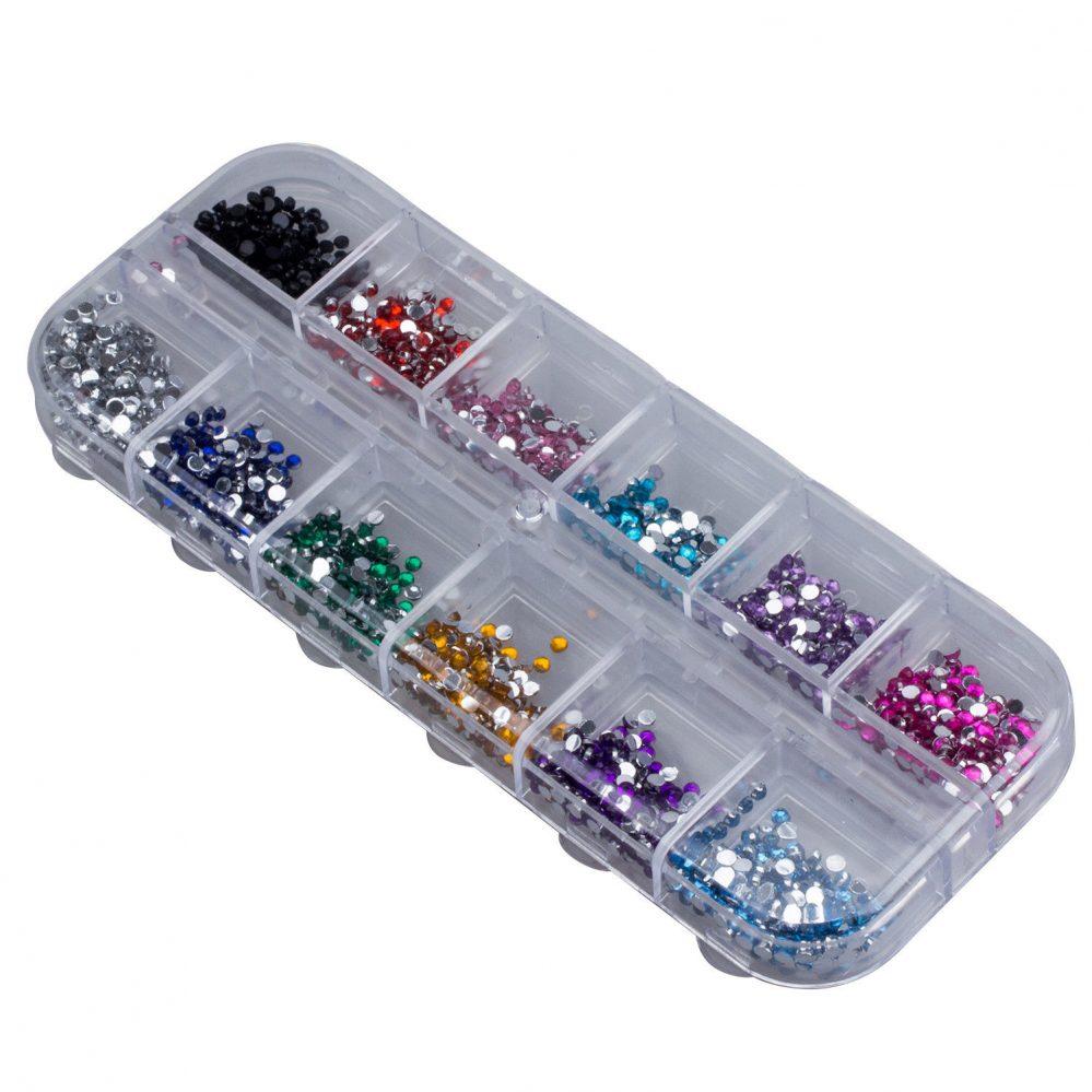 HU 3000 grains d'ornements pour la decoration des ongles/forme de diamant rond/  Price : 1.10  Ends on :   Voir sur eBay   …