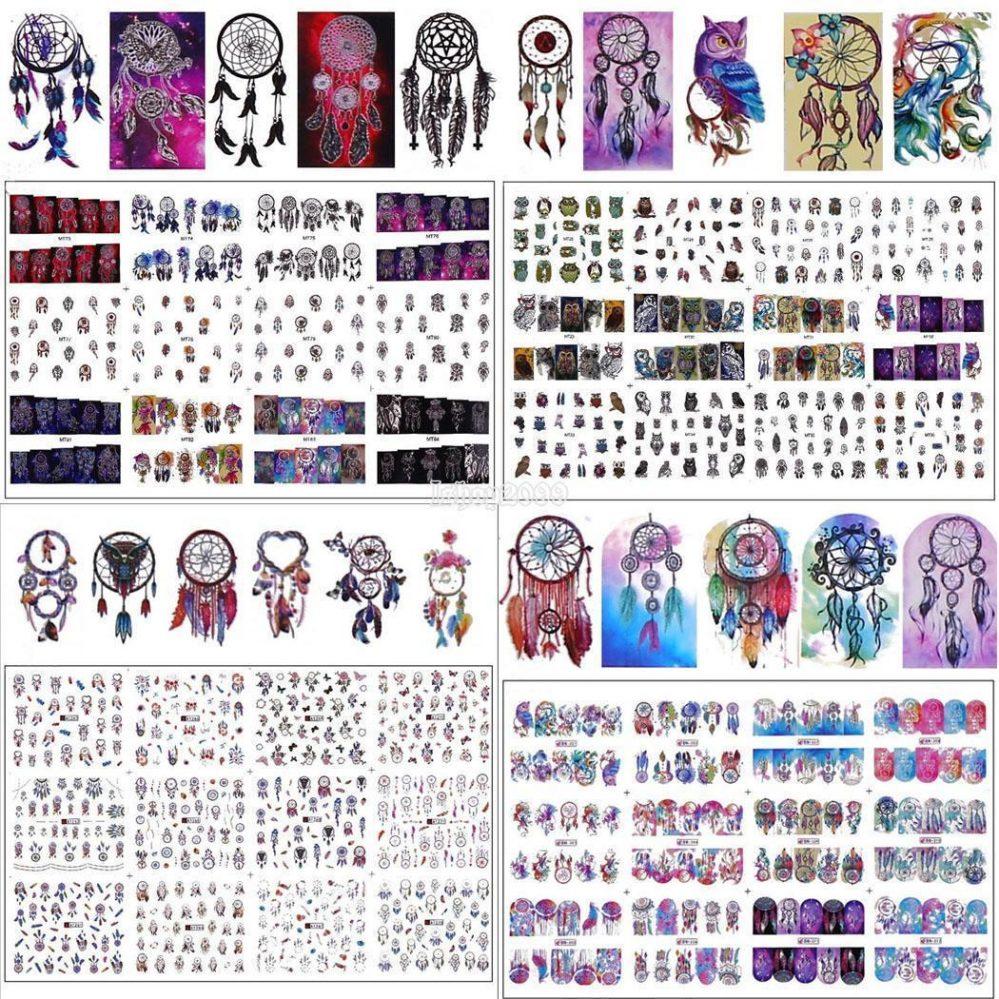 Nail Art Design Transfert d'eau Ongles Autocollant Hibou Dreamcatcher IS  Price : 1.70  Ends on :   Voir sur eBay   …