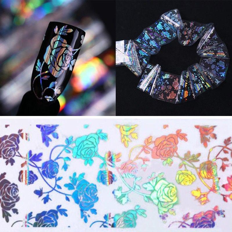 Rouleau Holo Rose Fleur Nail Art Foil Ongle Transfert Autocollant Sticker Décor  Price : 1.00  Ends on :   Voir sur eBay   …