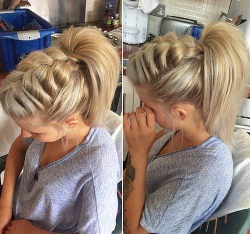 voluminous front braid and high ponytail Source by alexwhirlwind   …