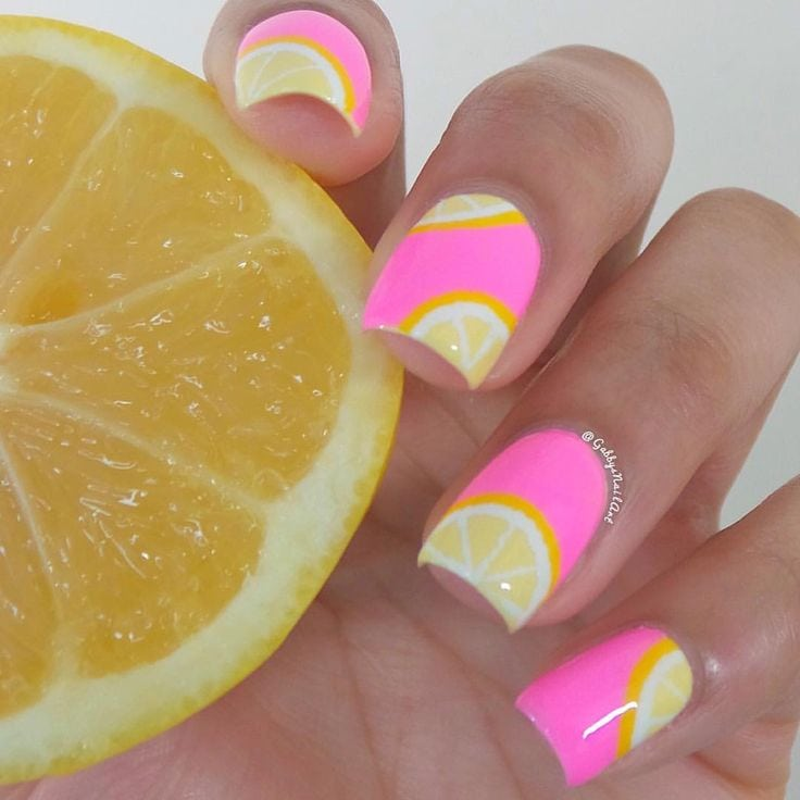 40 Summer Nails Art Ideas For A Fresh And Sunny Vibe Source by lunapalomablanc   …