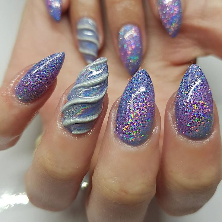 47 Playful Glitter Nails That Shines From Every Angle Source by SamJazzLeah   …