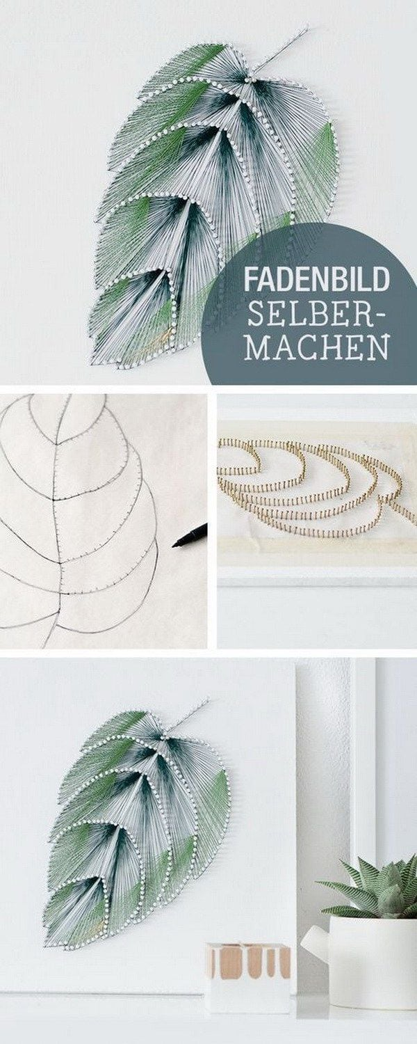 [ad_1]  DIY Thread Leaf Wall Art. Wall art doesn't have to be expensive to look good. Create this elegant leaf wall art with thread and nails and add a touch of elegance to your living space. Source by josedejong71 [ad_2]  …