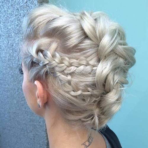 platinum blonde braided mohawk updo Source by lindazj   …