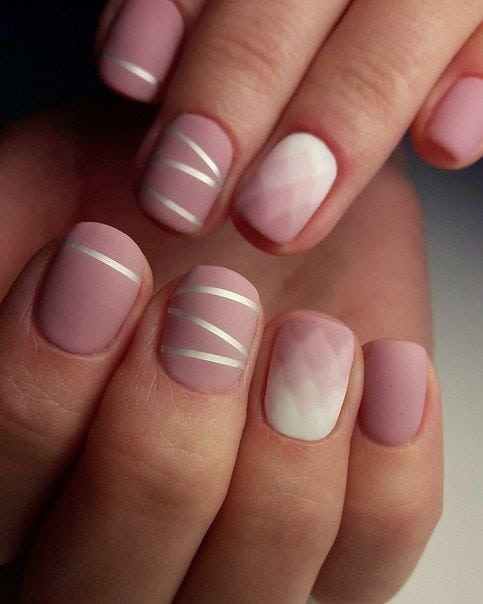 [ad_1]  Simple matte rose gradient nail art pink and with with silver stripes Source by rowanvermeulen [ad_2]  …
