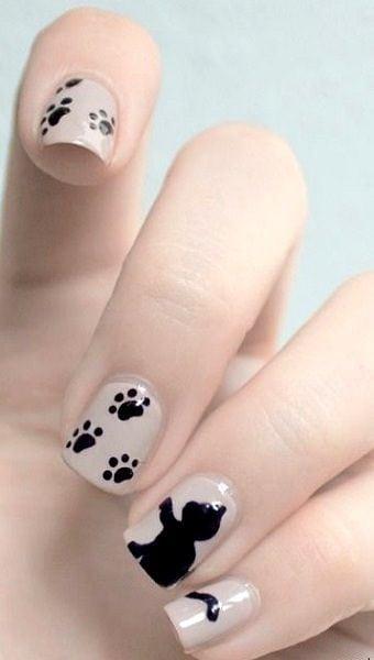 Cat Nail Art.. Source by noorbogels   …