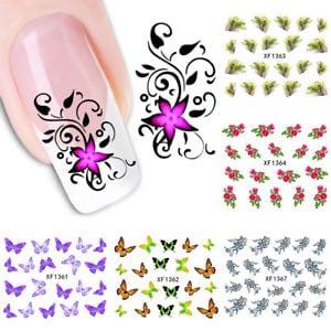 FR_ EG_femmes fleur papillon plume de paon Transfert de l'EAU art ongles autocol  Price : 4.71  Ends on :   Voir sur eBay   …
