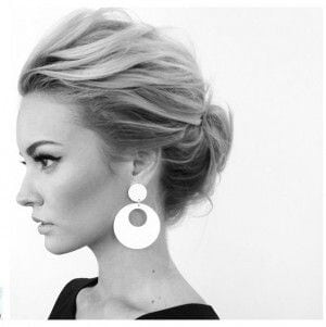 18 Quick and Simple Updo Hairstyles for Medium Hair Source by nepluv   …