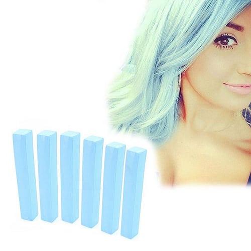 Idée Couleur & Coiffure Femme 2017/ 2018 : Baby Blue Hair Dye | CELESTINE 6 Light Blue Hair Chalks | HairChalk  Baby Blue H... - #Coiffure - https://madame.tn/beaute/coiffure/idee-couleur-coiffure-femme-2017-2018-baby-blue-hair-dye-celestine-6-light-blue-