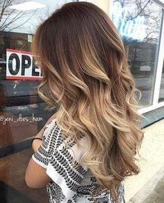 Beige Blonde Balayage on Brunette Hair Source by flores_ruz   …