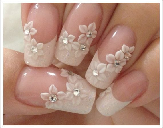 Kerry Benson – Essential Nails Graduate- Wedding Nails  See Kerry in action creating this lovely design www.essentialnail…