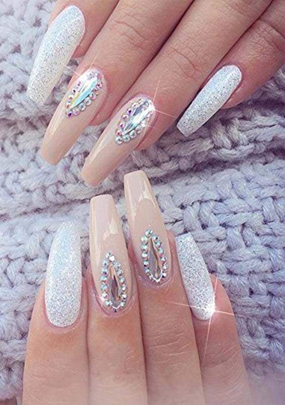 Full Cover Acrylic Nails Designs
