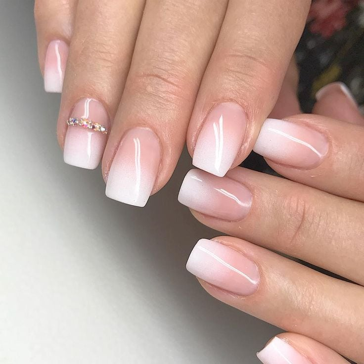 Thought you couldn't get a french manicure because you have short nails? Think again. Short nails don't often appear in the stunning nail art designs on Source by SophieEmmaLuykx_   …