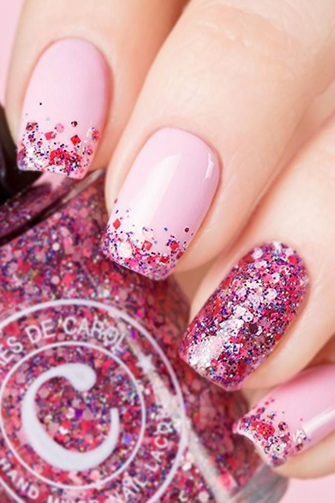 Bright Glitter Ideas for Your Nails picture 3 Source by lauraevertse   …