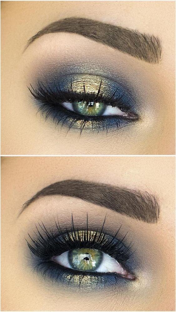 Gold und Dunkelblau – eine unschlagbare Kombi – auch im Make upi! Dunkelblau (Farbpassnummer 11) Kerstin Tomancok Farb-, Typ-, Stil & Imageberatung Source by fresia1980   …