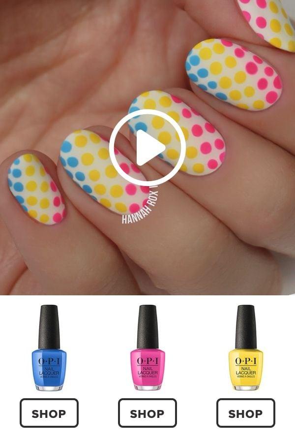 How to Get a Neon Polkadots Manicure #darbysmart #beauty #nailpolish #nailart #naildiy #naildesign #nailtutorial Source by ilseverberg   …